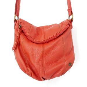 The Sak Deena Flap Leather Crossbody Bag in Coral